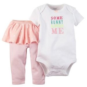 Carter's Some Bunny Loves Me outfit and sk…